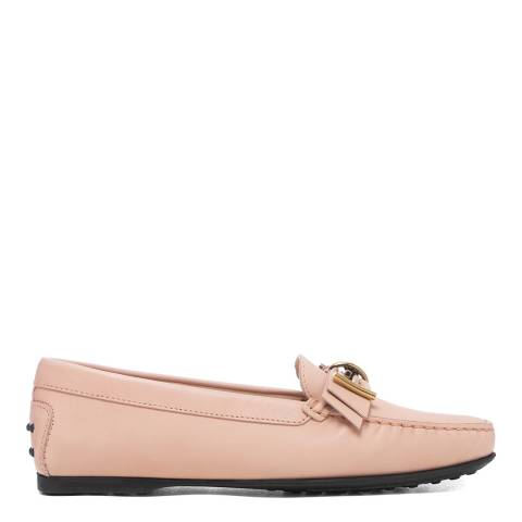 Tod's Blush Pink Leather Mosto Loafers