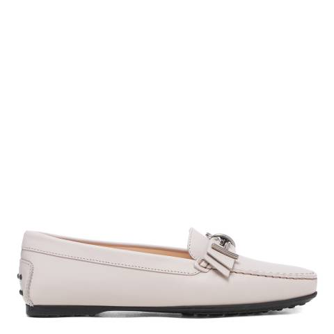 Tod's Light Pink Leather Mosto Loafers