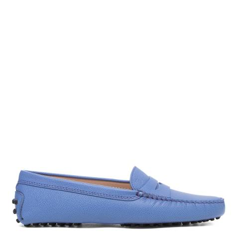 Tod's Blue Leather Gomino Driving Loafers