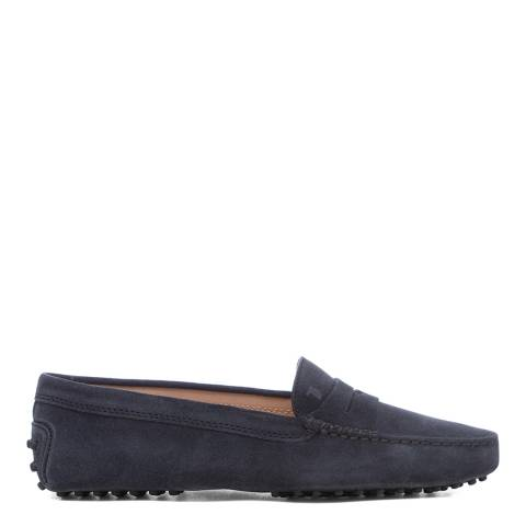 Tod's Navy Suede Gomino Driving Loafers