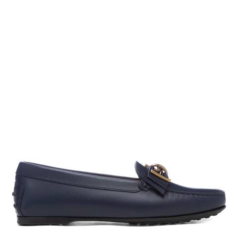 Tod's Navy Leather Mosto Loafers