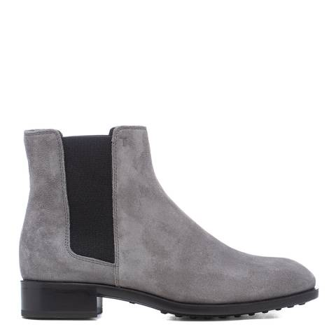 Tod's Grey Suede Tronchetto Ankle Boots