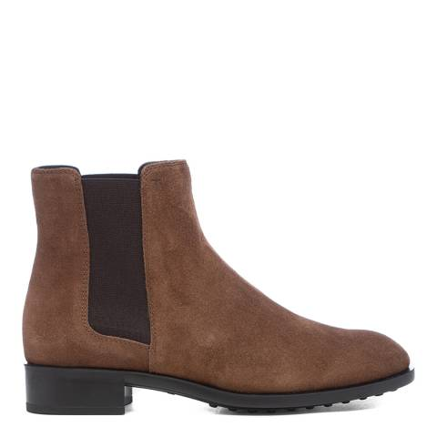 Tod's Mushroom Suede Tronchetto Ankle Boots