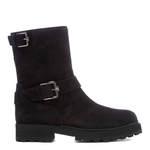 Tod's Black Basso Biker Ankle Boots