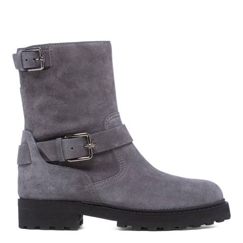 Tod's Grey Basso Biker Ankle Boots