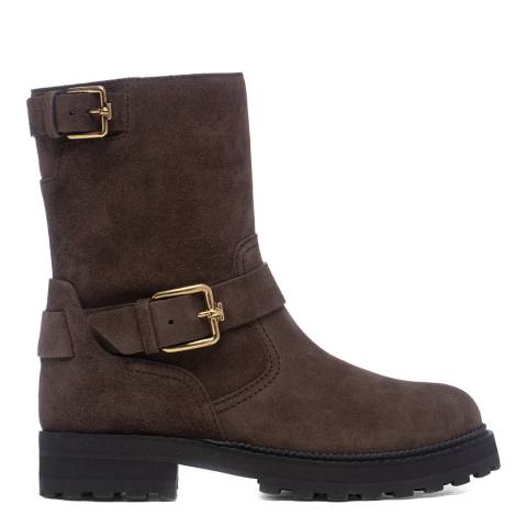 Tod's Brown Basso Biker Ankle Boots