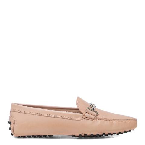 Tod's Pink Rosa Kiss Gommini Driver Loafers