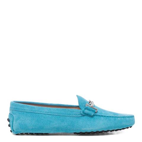 Tod's Turquoise Leather Gomino Driving Loafers