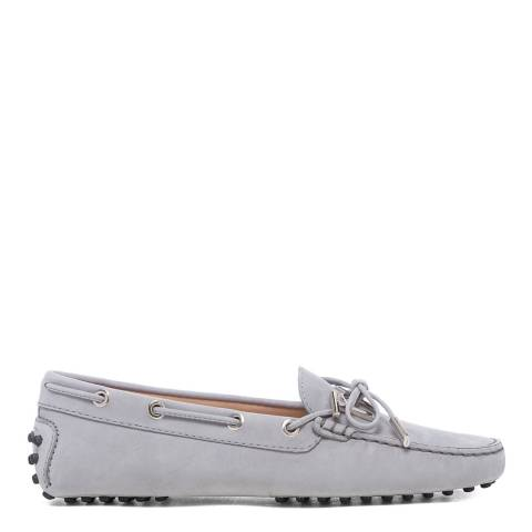 Tod's Grey Suede Gomino Driving Loafers