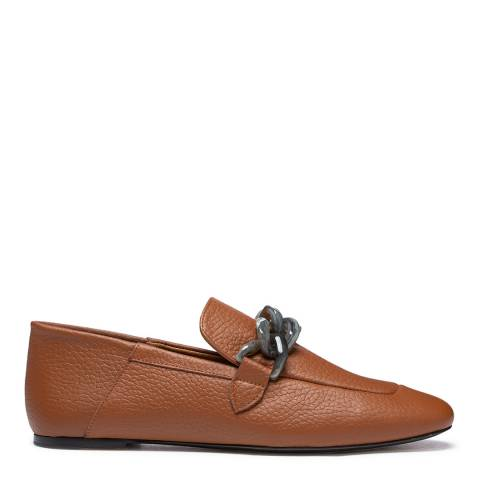 Joseph Brown/Grey Leather Detailed Loafer