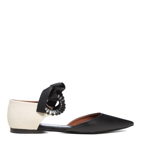 Proenza Schouler Black/Cream Leather Flats