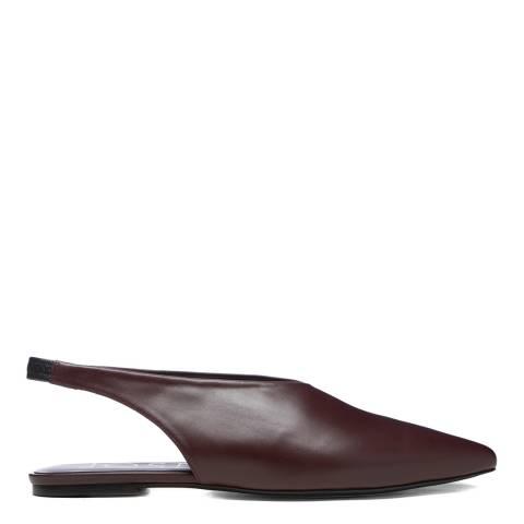 Joseph Tan Brown Leather Flat Mules