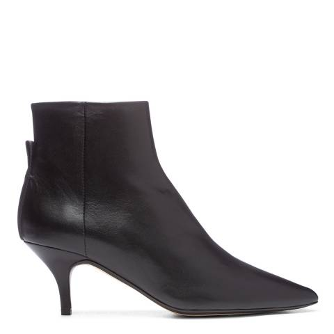 Joseph Black Leather The Sioux Pointed Boots
