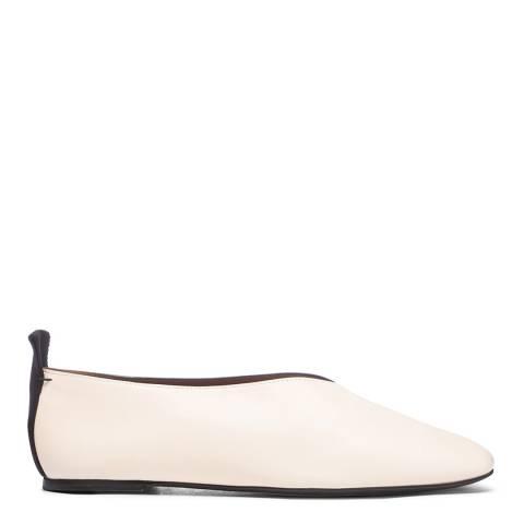 Joseph Ecru Pointed Toe Ballerinas