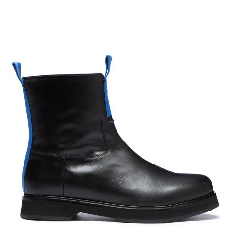 Joseph Black/Blue Tabs Leather Ankle Boots
