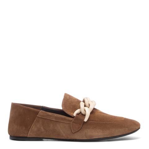 Joseph Camel Suede Flat Loafers