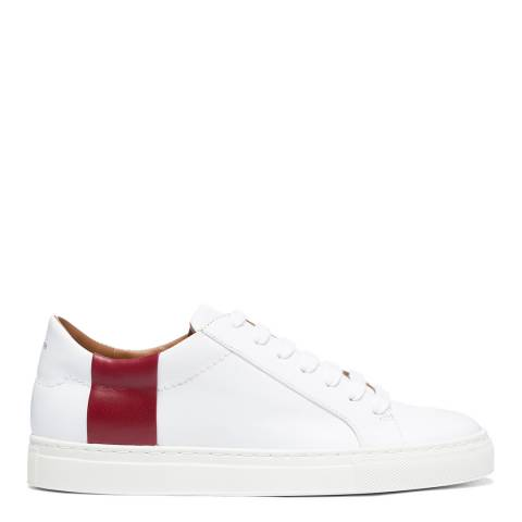 Joseph White/Red Leather Sneaker