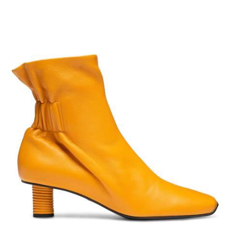 Proenza Schouler Orange Leather Rope Heel Ankle Boot