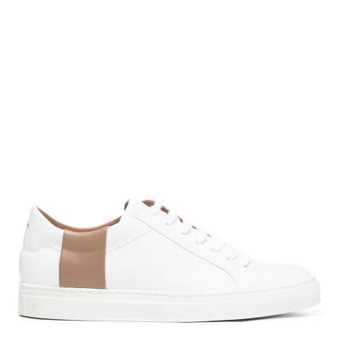 Joseph White/Beige Leather Sneaker