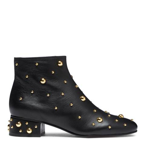 See by Chloe Black Leather Studs Ankle Boot