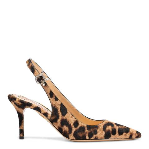 Charlotte Olympia Leopard Print Slingback Court Pumps