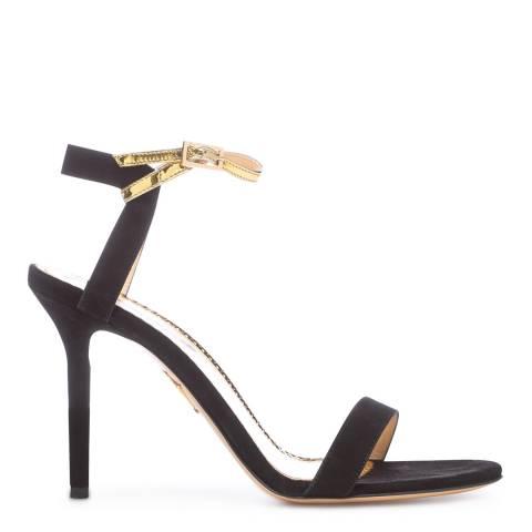 Charlotte Olympia Black/Gold Quintessential Heeled Sandal