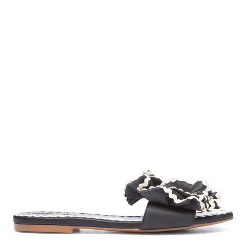 See by Chloe Black/White Trim Flat Sandals