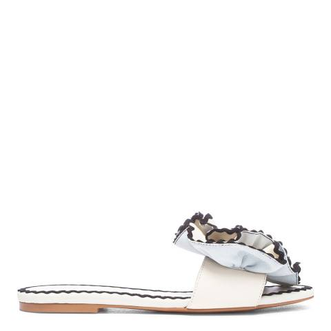 See by Chloe Chalk/Black Trim Flat Sandals