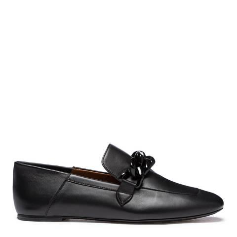 Joseph Black Leather Detailed Loafer