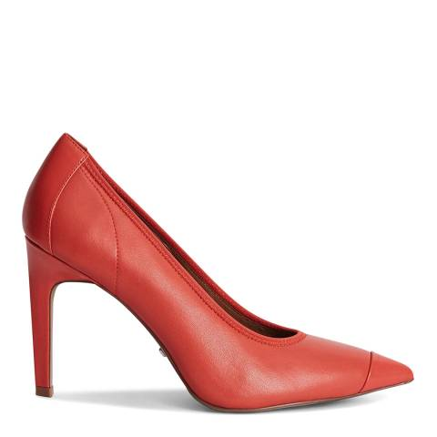 Reiss Coral Lowri Leather Court Shoes