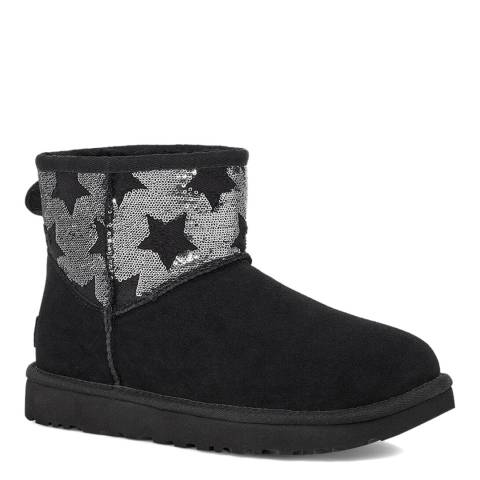 UGG Black Classic Mini Sequin Star Boots