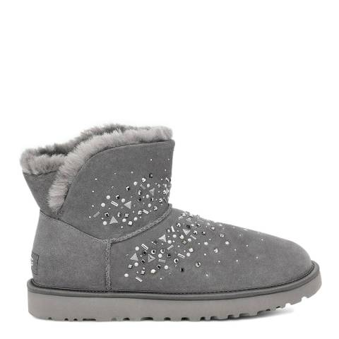 UGG Charcoal Galaxy Bling Mini Classic Boot