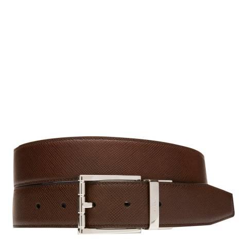 BALLY Brown Astor Adjustable/Reversible Belt