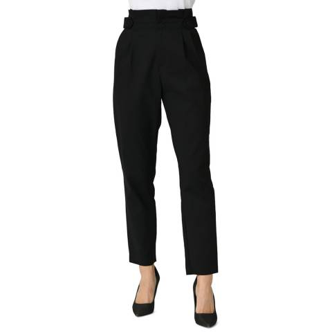 Comptoir Des Parisiennes Black High Waisted Straight Leg Trouser