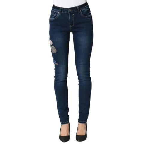 Comptoir Des Parisiennes Blue Slim Skinny Stretch Jeans