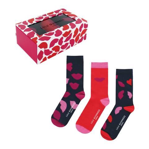 Lulu Guinness Red Multi 3 Pack Gift Box
