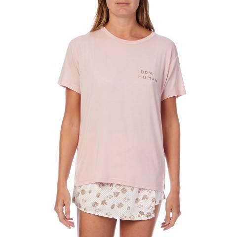 Cottonreal Pink 100%; Human Motif Mix-Match Tree Shortie Set