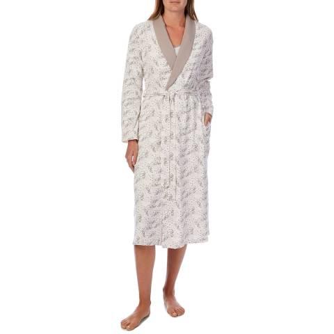 Cottonreal Coffee & Cream Dalmations Mix-Match Night Dress And Shawl Wrap, 2 Pack Set