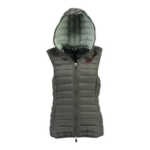 Geographical Norway Grey Vafne Hooded Quilted Gilet