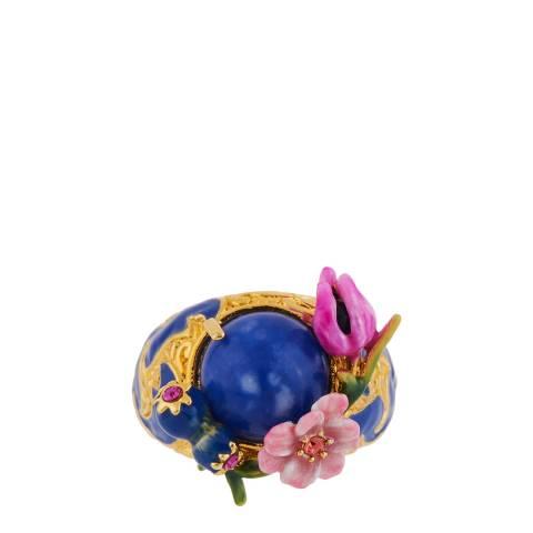 Les Néréides Gold Hiver a Giverny Signet Ring