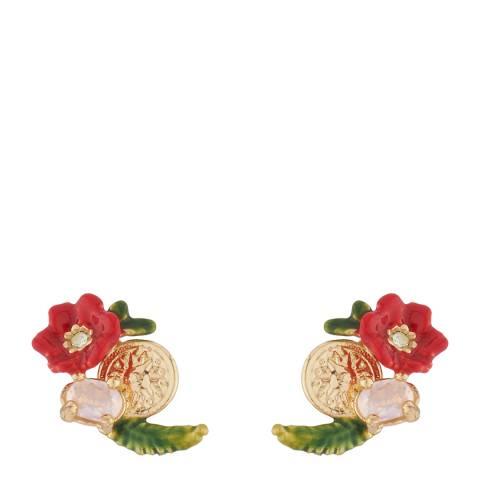 Les Néréides Gold Eclatante Discretion Stud Earrings