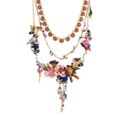 Les Néréides Gold Hiver a Giverny Layer Necklace