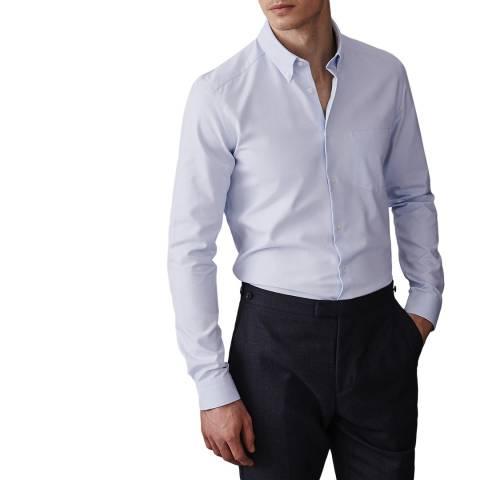 Reiss Soft Blue Ainslee Cotton Shirt