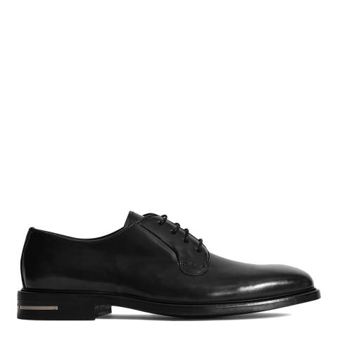 Reiss Black Carlton Leather Brogues