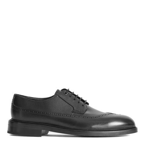 Reiss Black Jan Leather Brogues