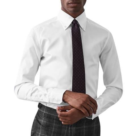 Reiss White Redsnap Slim Cotton Shirt