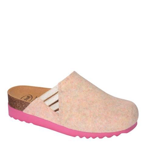 Scholl Pink Melange Mina Slippers