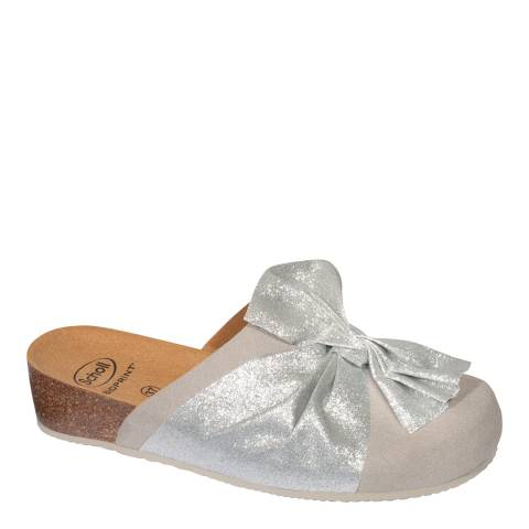 Scholl Light Grey Lucy Slippers