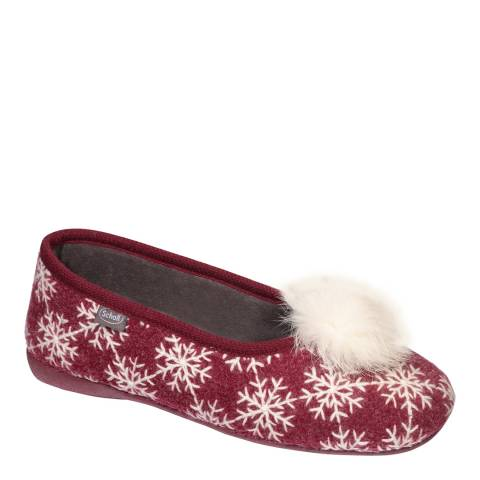 Scholl Red Snowy Snowy Slippers