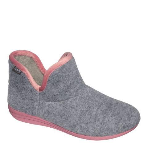 Scholl Grey Creamy Bootie Slippers